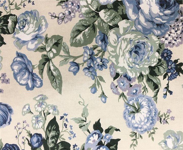 Tovagliolo fantasia rose azzurre