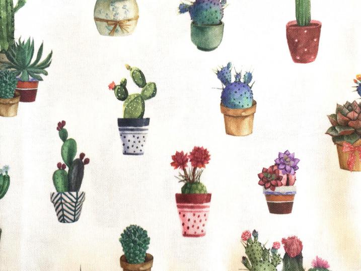 Tovaglia dama con bordo cactus var 2