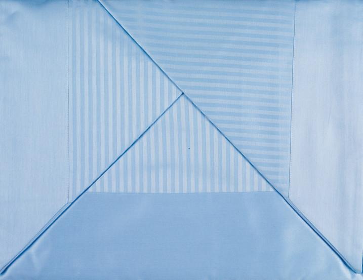 Lenzuolo in raso di puro cotone azzurro