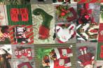 Tovaglia fantasia natalizia verde STAMPA DIGITALE