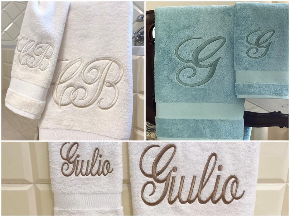 Asciugamani spugna ricamati